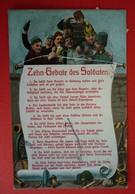 ZEHN GEBOTE DES SOLDATEN -  PATRIOTIKA - K.u.K. SOLDAT 1913 - War 1914-18