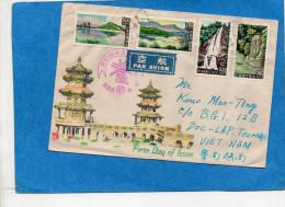 MARCOPHILIE-TAIWAN-Lettre Cad 1961 Pour Viet Nam 4 Stamps Série  N°380-3-Paysages - Lettres & Documents