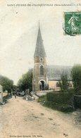 FRANQUEVILLE ST PIERRE - L'église De St Pierre De Franqueville En Couleur - Frankrijk