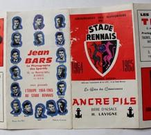 Rare Calendrier Officiel 1964 1965 Groupement Supporters Stade Rennais Football Rennes Joueurs Sur Document Publicitaire - Kleding, Souvenirs & Andere