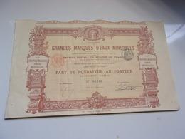 LES GRANDES MARQUES D'EAUX MINERALES (1895) Imprimerie RICHARD - Non Classés