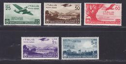ITALIE AERIENS N°   91 à 95 ** MNH Neufs Sans Charnière, B/TB (D8713) Bimillénaire De La Naissance D'Horace - 1936 - Correo Aéreo