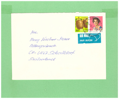NEW ZEALAND 1985 AIR MAIL COUVERT WITH 2 STAMPS TO SWISS - New Zealand