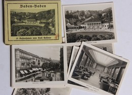 Baden Baden Allemagne 15 Cartes Photo Spielbank Bar Rolf Kellner Karlsruhe - Baden-Baden