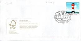 "BRD Amtl.GZS-Umschlag (Langformat) USo 76B ,WSt 55(C) ""Leuchtturm Roter Sand"" ESSt 8.7.2004 BREMERHAVEN - BRD"