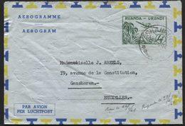 RUANDA URUNDI - Aérogramme N°1obl. SHANGUGU Vers Bruxelles 1961. SBEP 12€ - Entiers Postaux