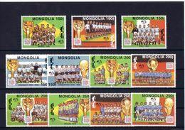 Soccer World Cup 1994 - MONGOLIA - Set 11v MNH - 1994 – Vereinigte Staaten