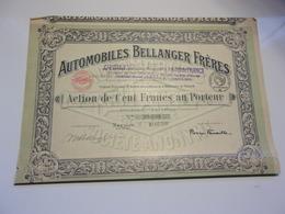 AUTOMOBILES BELLANGER FRERES (1919) NEUILLY - Non Classés