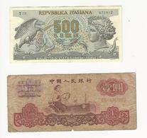 Lot 8 Banknotes * Italy, China And Portuguese Angola - Monnaies & Billets