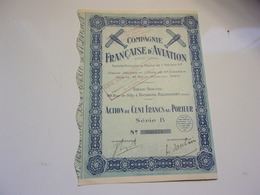 Compagnie Française D'aviation (boulogne Billancourt) - Actions & Titres