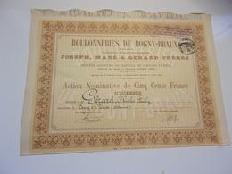 BOULONNERIES DE BOGNY BRAUX (ardennes) 1888 - Non Classés