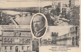 CPA 84 AVIGNON SOUVENIR DE LA VISITE DE POINCARE 1913 - Avignon