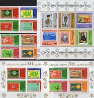 Stamps On Stamp 1981 Türkiye Block 19,3491/8VB+Bl.58/9 ** 70€ 100.birthday Atatürk M/s Ss Blocs Hoja Sheets Bf CEPT - 1921-... République
