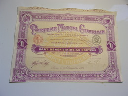 PARFUMS MARCEL GUERLAIN  (part Bénéficiaire) 1924 - Non Classés