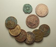 Lot Of 9 Coins Bad Grade - Kilowaar - Munten