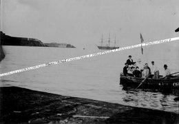 ALGÉRIE / MERS EL KEBIR / PORT DE SAINT ANDRÉ ??? PHOTO / 1900 - 1903 / VUE SUR PHARE ET FORT / VOILIER / TROIS MATS - Algérie