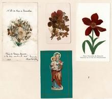 RELIGION 103 Images Fleurs De Terre Sainte1871-Rhodoïds-Peintes Main- Diverses Autres. Toutes Scannées - Cartes Postales