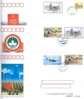 COMMEMORATIVE COVERS PFN MACAO 6-8 RETURN TO THE EMBRACE OF MOTHERLAND PLA - Lot 19227 - 1997-... Région Administrative Chinoise