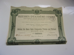 RIZERIES D'EXTREME ORIENT (1918) SAIGON , INDOCHINE - Non Classés