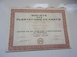 Plantations De Kratié (saigon , Indochine) - Shareholdings