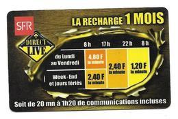 Carte Recharge SFR 1 Mois  2éme Choix Voir 3 ème - Cellphone Cards (refills)