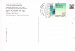 31553. Entero Postal OLTEN (Suisse) 2006. 150 Aniversario Ciudad Ferroviaria. Ferrocarril, Eisenbahn - Enteros Postales