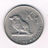 ONE KWACHA 2014 ZAMBIA /2275/ - Zambie