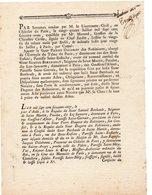 63/  IMPRIME PRE REMPLI. ACTE D'HUISSIER 1771. RARE - Manuscrits