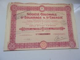 COLONIALE D'ECLAIRAGE & D'ENERGIE (saigon,indochine) - Non Classés