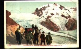 Tourist Admiring In Gornergrat Mont Rose C.1900 Postcard - Ohne Zuordnung