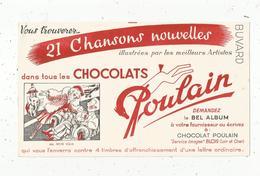 Buvard , Chocolats POULAIN ,21 Chansons ,MA PETITE FOLIE , Blois , Frais 1.55 E - Alimentaire