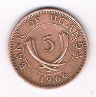 5 CENTS 1966 OEGANDA /2277/ - Ouganda