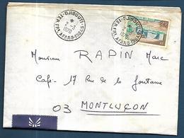 Afars Et  Issas    Lettre De Djibouti   Le 02  03 1970  Vers Montluçon - Afars Et Issas (1967-1977)