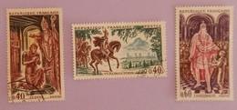"FRANCE YT 1495/1497 OBLITERES ""GRANDS NOMS DE L HISTOIRE"" ANNEE 1966 - France"