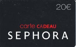 Carte Cadeau - Séphora / 20 €  -  GIFT CARD /GESCHENKKARTE - Cartes Cadeaux