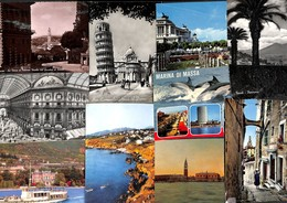 Italie Italy Italia - Lot 82 Cartes Postcards (voir Zie See Scans, Petit Prix) - 100 - 499 Cartes