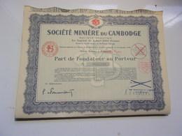 MINIERE DU CAMBODGE (saigon,indochine) - Shareholdings
