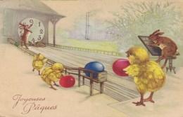 Happy Easter, Joyeuses Pâques, Chicks Ans Hares (pk57135) - Pâques