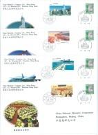 COMMEMORATIVE COVERS PFN HK-6 (4-1 TO 4-4) ECONOMIC CONSTRUCTION HK  - Mi 2778-2781 + HK 772  Yv 3452-3455   - Lot 19230 - 1997-... Région Administrative Chinoise