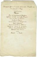Ancien Menu Manuscrit. Banquet Offert Pour Visite Royale Au Tir National à Liège. 1869 - Menus