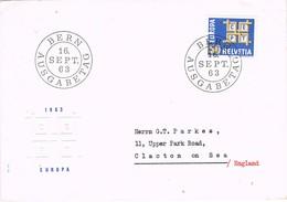 31556. Carta BERN (Suisse) 1963. EUROPA Theme - Suiza