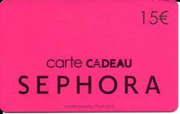 Carte Cadeau - Séphora / 15 € -  GIFT CARD /GESCHENKKARTE - Cartes Cadeaux