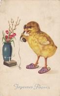 Happy Easter, Joyeuses Pâques, Calling Chick (pk57140) - Pâques