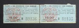 2 X Belgian Railway Tickets To Bokrijk, Genk. - Chemins De Fer