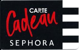 Carte Cadeau - Séphora -  GIFT CARD /GESCHENKKARTE - Cartes Cadeaux