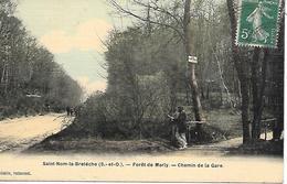 SAINT NOM La BRETECHE ( 78 ) - Chemin De La Gare , Forêt De Marly  ( Carte Toilée ) - St. Nom La Breteche