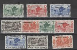 Nouvelles- Hébrides_ Taxe - (  2 Légende) N°26/35 (1953 ) - Segnatasse
