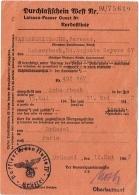 Militaria 1939-45. Ausweis. Laissez-Passer Ouest. Bruxelles-Paris 1942. - Documents
