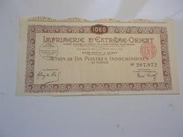 IDEO Imprimerie D'extreme Orient (1947) SAIGON-INDOCHINE - Non Classés