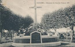 62) BAPAUME : Monument Du Souvenir Français 1870 (feldpost 1915) - Bapaume